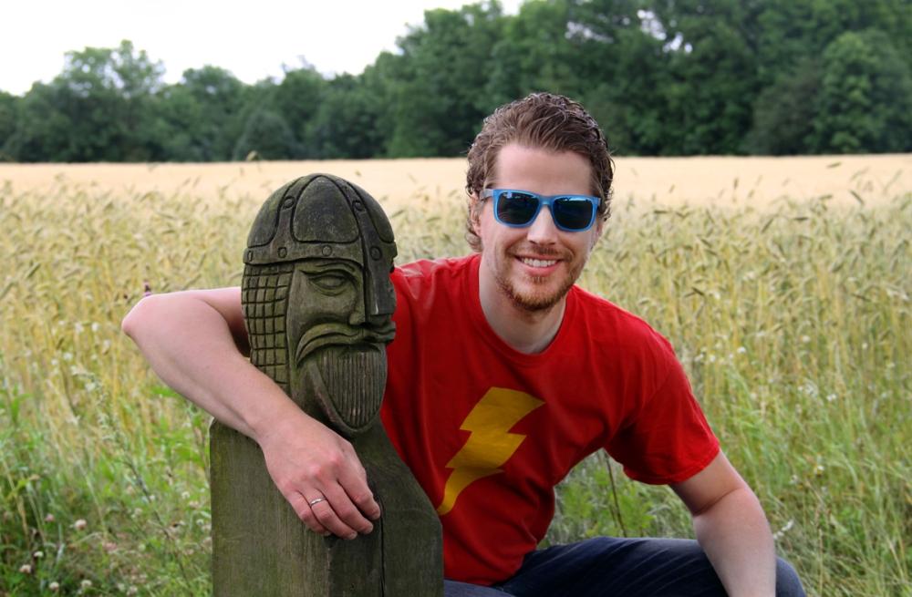 Jorgen With His Viking Friend