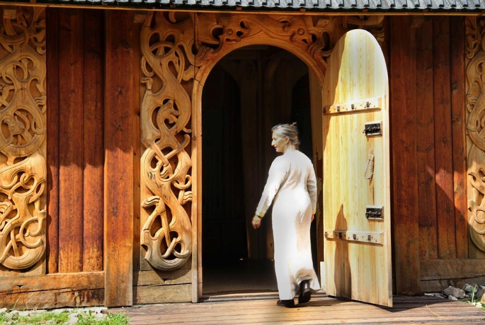 Woman Enter Longhouse