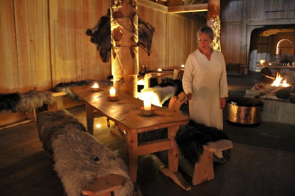Woman In Longhouse