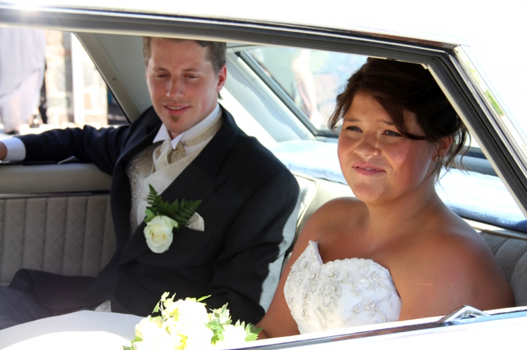 Jorgen and Jeanette in Car