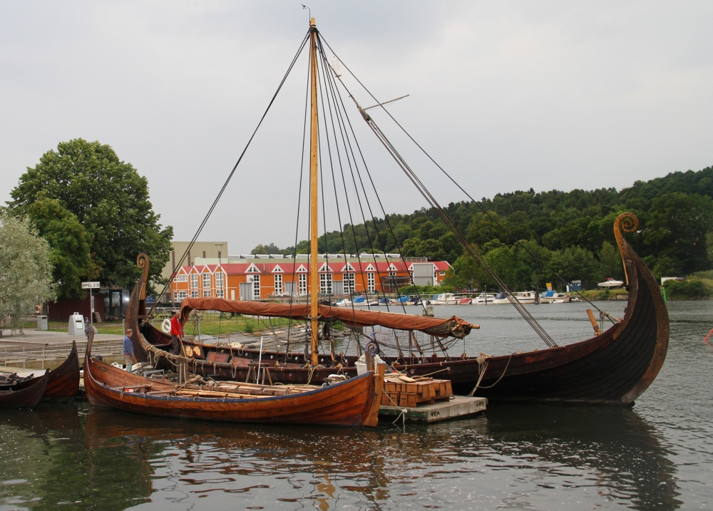 Viking Ship In the Fjord 2