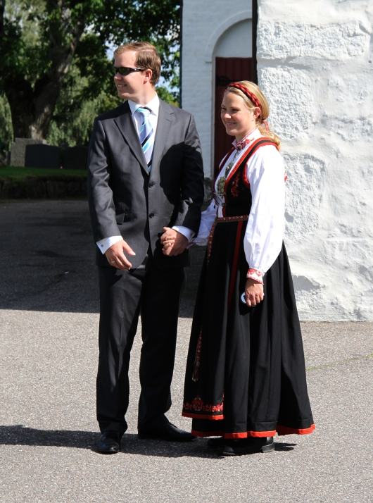 Young Couple in National Costume