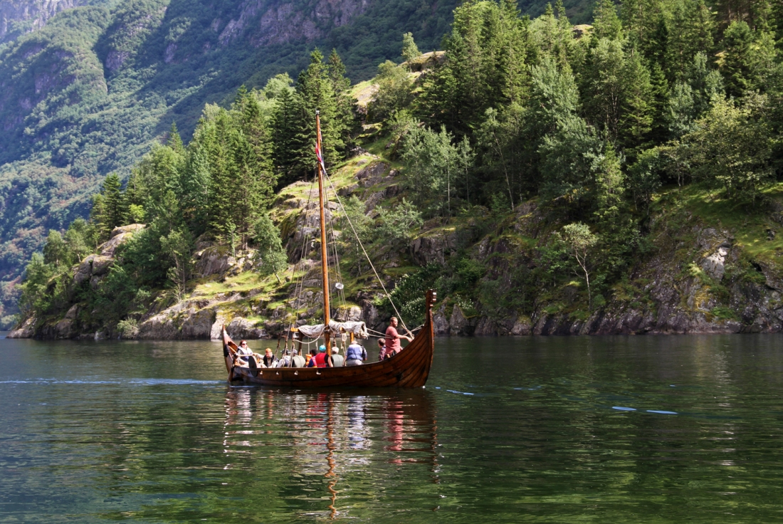 Viking Ship Taking Guests Around the Nærøyfjord