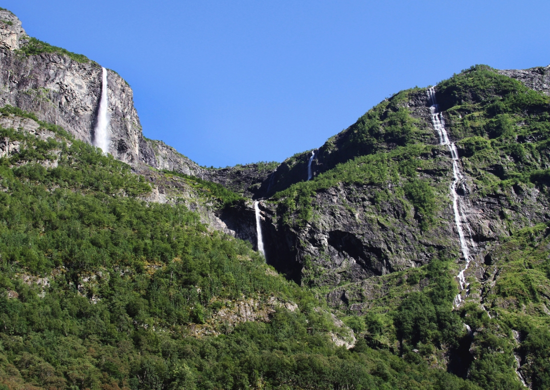 Waterfalls at Gudvangen