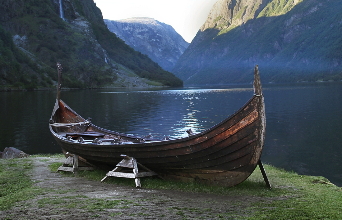Long Boat by the Fjord